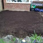 turfing compost added