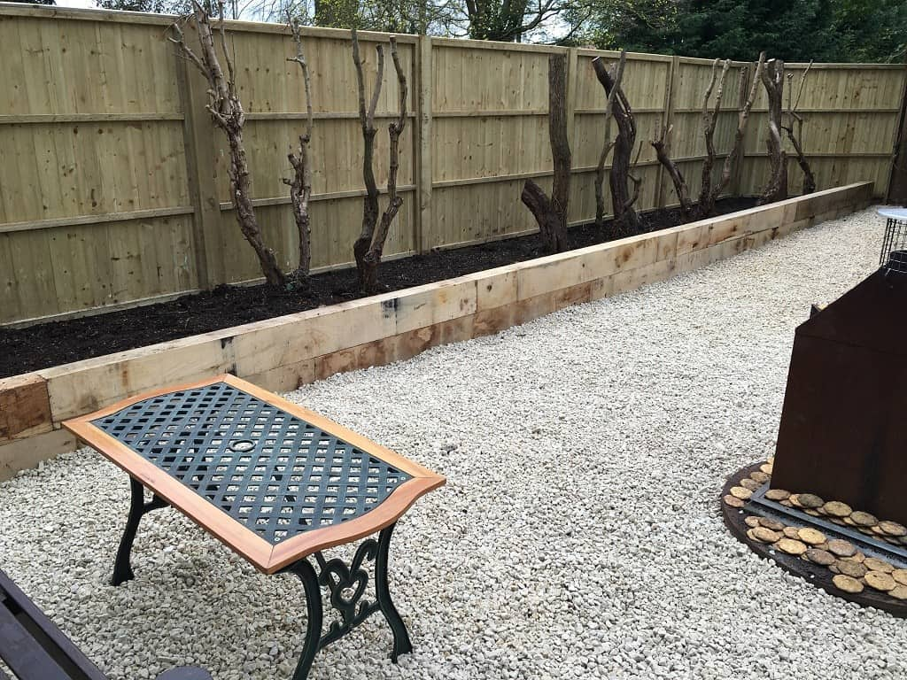 railway sleepers as a garden border